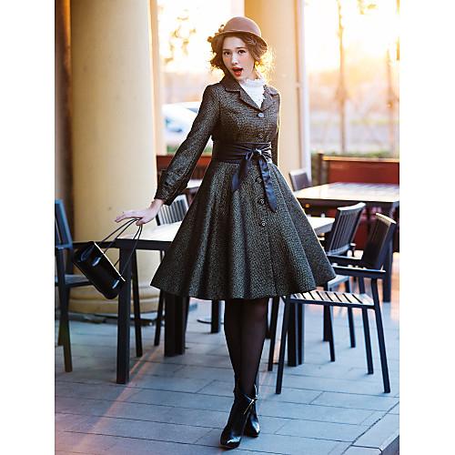 Винтажное твидовое пальто TS с укороченным рукавом, в стиле ретро-свинг Lightinthebox 2094.000