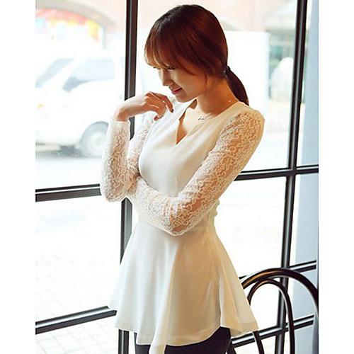 Блузка женская с кружевным рукавом
