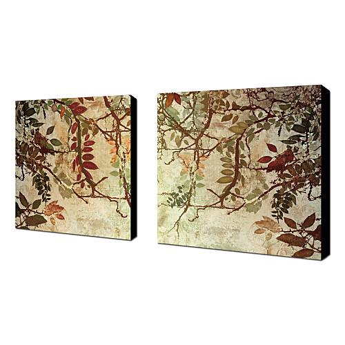 Натянутым холстом искусств Ботанический Переход по цвету Хлебобулочные Комплект из 2 Lightinthebox 2577.000