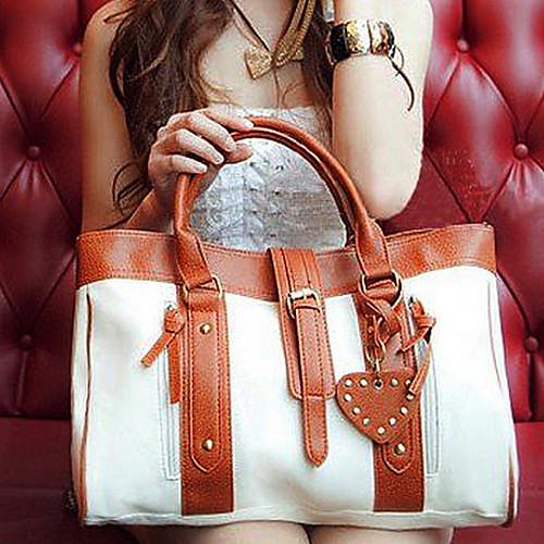 МОДА корейский стиль Женская Хобо ПУ кожа сумки Сумка белая Lightinthebox 1718.000