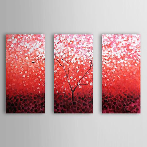 Ручной росписью маслом Цветочные Падение Сакура с растянутыми кадр Набор из 3-1311 FL1130 Lightinthebox 7304.000