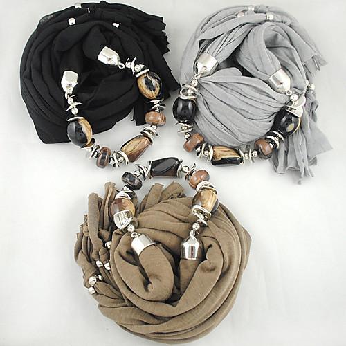Мода Асимметричный Jewel & Shell Сеть шарф Lightinthebox 858.000