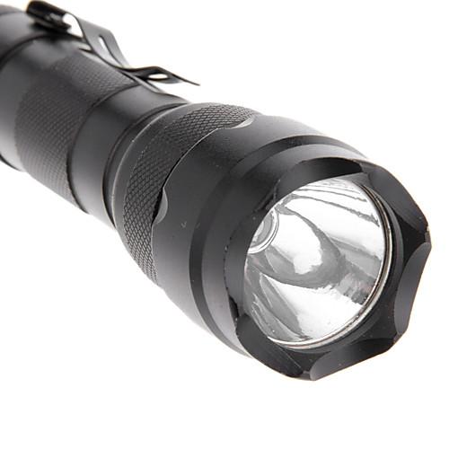 5 режимный светодиодный фонарь CREE XM-L T6 с зарядным устройством для батареи  (1000LM, 1x18650, черный) Lightinthebox 816.000