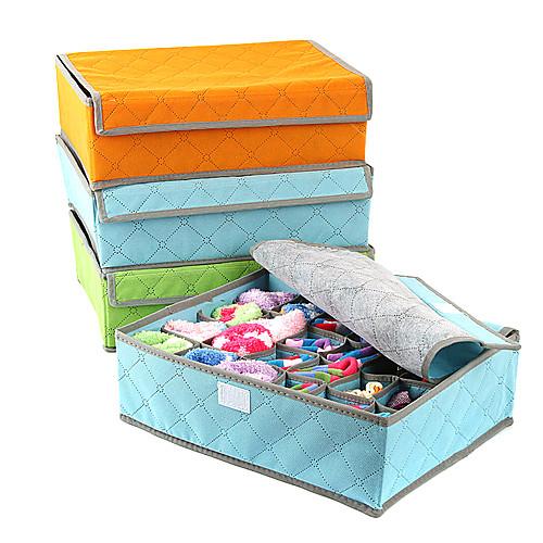 Твердые Bamboo уголь с крышкой ящик для хранения белья Lightinthebox 450.000