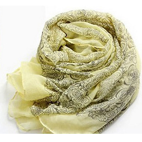 Длинные Этническая Цветочный шарф для печати Lightinthebox 429.000