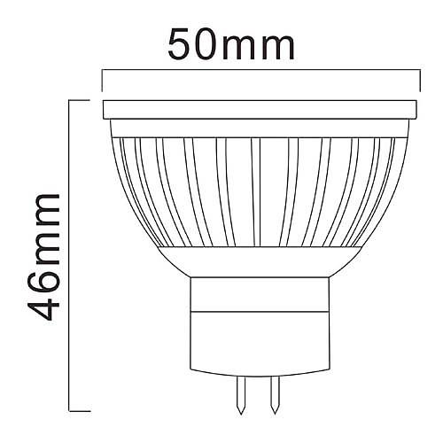 GU5.3 7W 2700K 500LM 15x5730SMD CRI> 80 теплый белый свет светодиодные лампы Spot (DC / AC 12V) Lightinthebox 515.000
