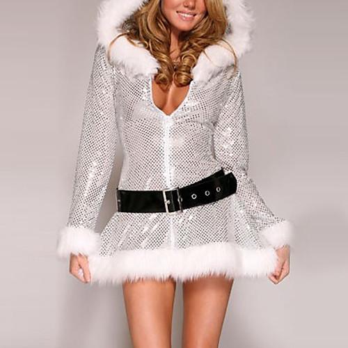 Furry серебряный женский Рождества платье с капюшоном Lightinthebox 1073.000