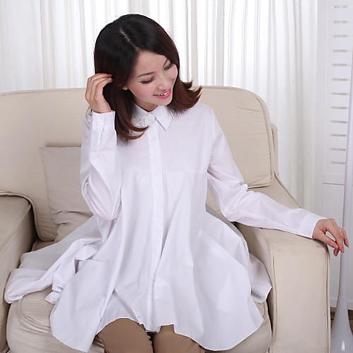 Материнство высокой талией складки рубашки Lightinthebox 1088.000
