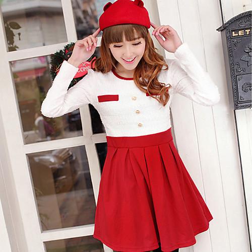 Луна воскресенье Женская Красный длинным рукавом кружевном платье Lightinthebox 944.000