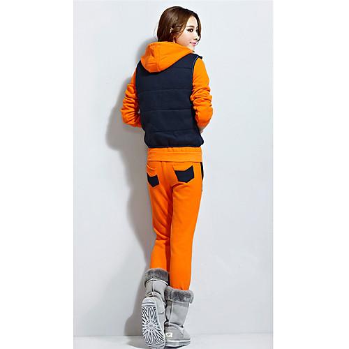 Повседневная женщин Костюм (толстовка, жилет и брюки) Lightinthebox 1172.000