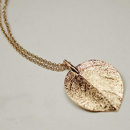 Очаровательная Золотой лист сплава Длинные Женская ожерелье Lightinthebox 285.000