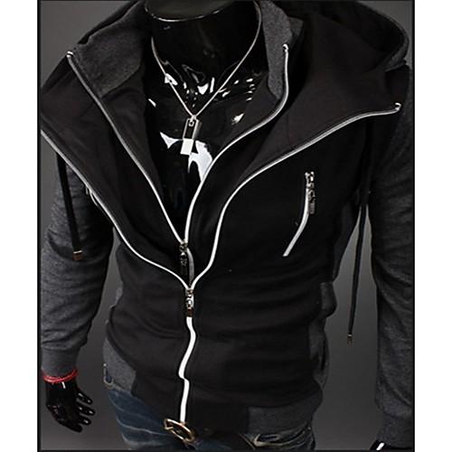 REVERIE UOMO Мужская Черный Цветовой контраст Толстовка пальто свитера Lightinthebox 858.000