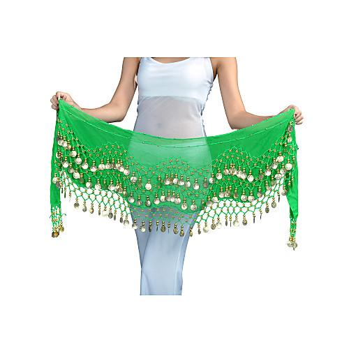 Мода танцевальная одежда шифон Пояс танца живота с 128 монет для дам (другие цвета) Lightinthebox 154.000