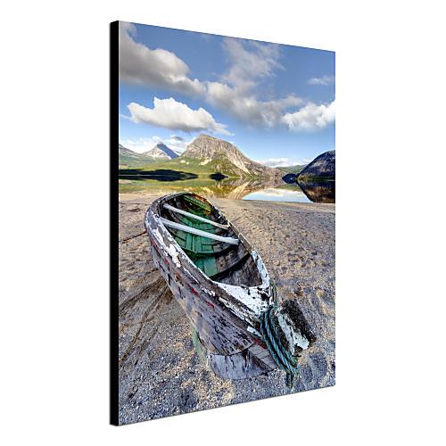 Натянутым холстом печати садово-паркового искусства Норвегии Скрутка Лодка Матей Duczynski Lightinthebox 1718.000