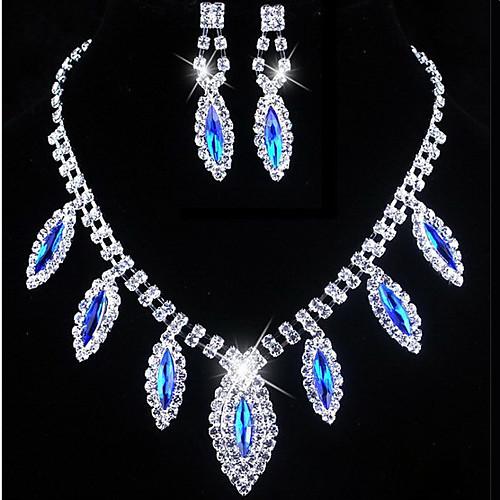 Изысканный сплава с Rhinestone ожерелье, серьги комплект ювелирных изделий (другие цвета) Lightinthebox 669.000