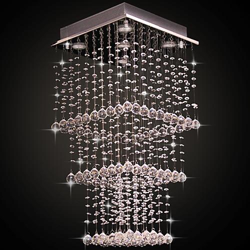 Элегантная хрустальная люстра с 5 спотами, в современном стиле Lightinthebox 6874.000