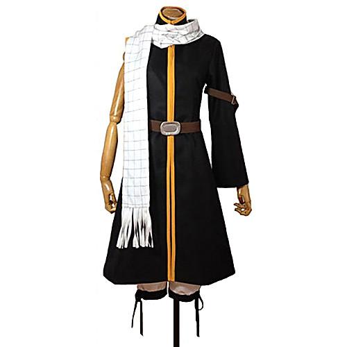Вдохновлен Фейри Тейл Natsu Dragneel Аниме Косплэй костюмы Косплей Костюмы Пэчворк Пальто / Брюки / Пояс Назначение Муж. / Жен, Черный