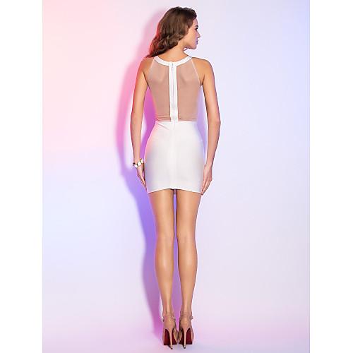 Изысканное бандажное платье-футляр с сетчатой спинкой Lightinthebox 2534.000