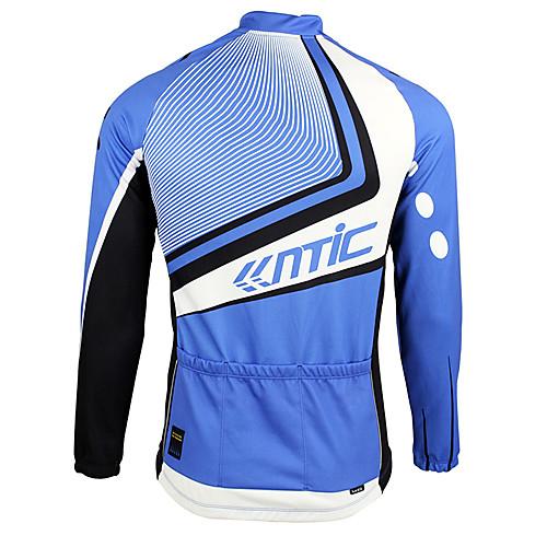 Santic-мужские синий и черный костюм руно Длинные рукава Велоспорт Lightinthebox 2577.000