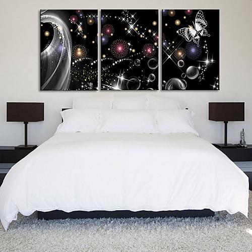 Натянутым холстом печати абстрактный искусства в Бабочка мечты Набор из 3 Lightinthebox 2577.000