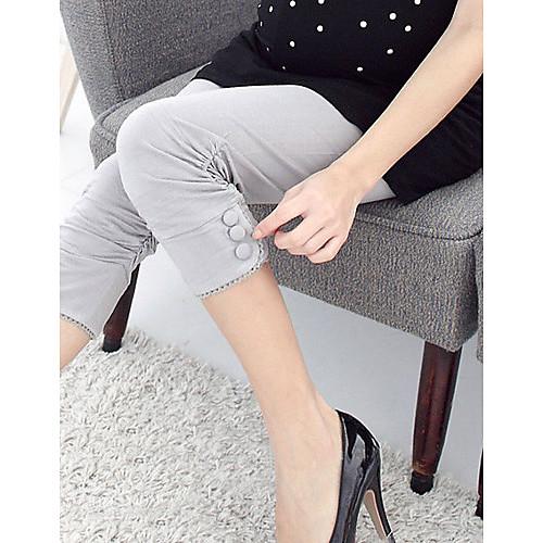 Материнство складки Buttom обрезанные брюки Lightinthebox 921.000