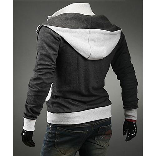 REVERIE UOMO Мужская светло-серого цвета Контрастность свитера Hoodie Lightinthebox 858.000
