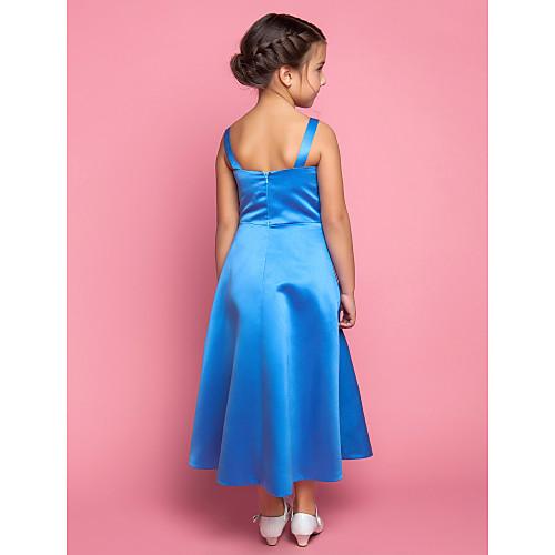 Онлайн бретельках пят крест крест цветок атласные платья девушки Lightinthebox 2526.000