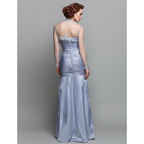 Вечернее платье из тафты для дам, длиной до пола, силуэт русалка