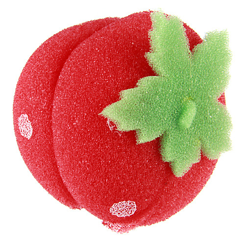 6 шт клубники мягкая губка бигуди волосы шары роликовые Lightinthebox 987.000