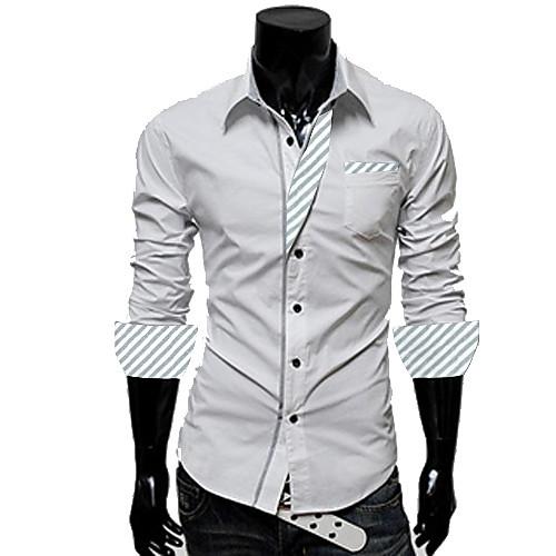 Мужская обтягивающая рубашка с манжетами Lightinthebox 1033.000