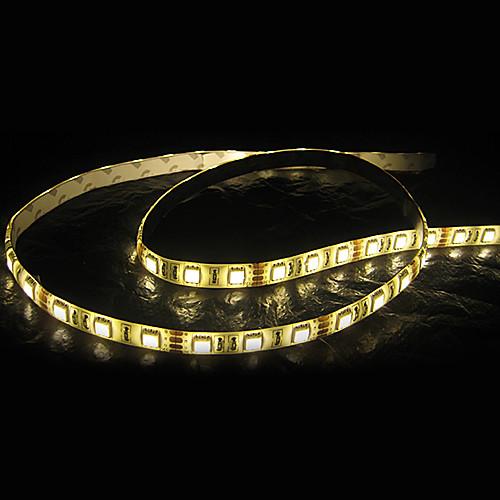 Белый / теплый белый свет водить прокладки Водонепроницаемый 5M SMD 5050 300 светодиодов / рулон Lightinthebox 1718.000