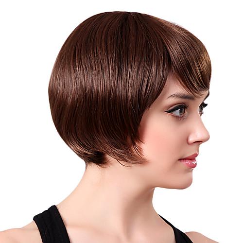 Парик из 100% настоящих человеческих волос (темно-коричневый) Lightinthebox 1795.000
