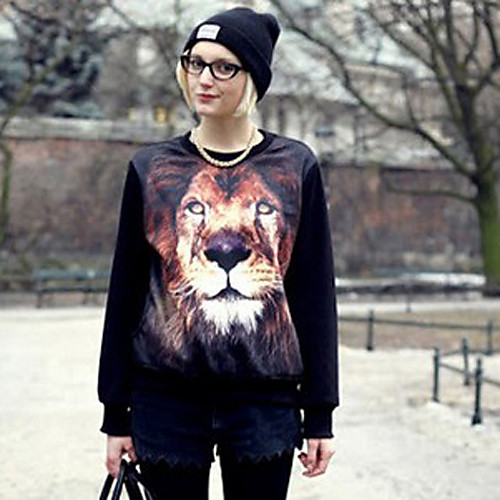 Lion Женские блузки для печати Lightinthebox 781.000