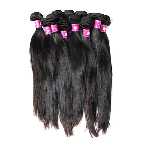 5А Remy бразильского Виргинские естественная прямая утка человеческих волос Расширения (20 дюйма) Lightinthebox 4855.000