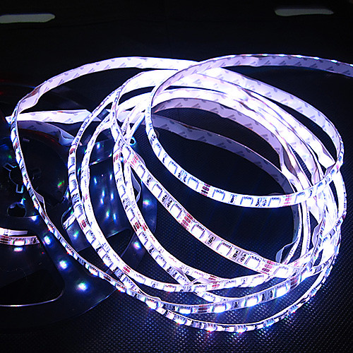 Белый / теплый белый свет водить прокладки Водонепроницаемый 5M SMD 5050 300 светодиодов / рулон  12В 7А адаптер питания