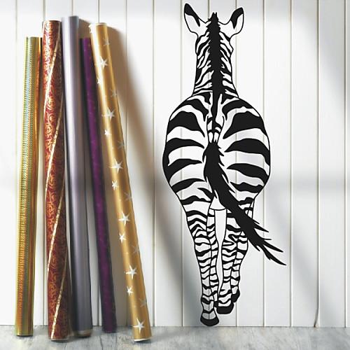 Животное Вид Zebra для задней стенки Наклейки Lightinthebox 1288.000