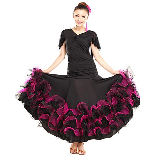 Юбка для латинских танцев из вискозы и тюля (разные цвета) Lightinthebox 2496.000