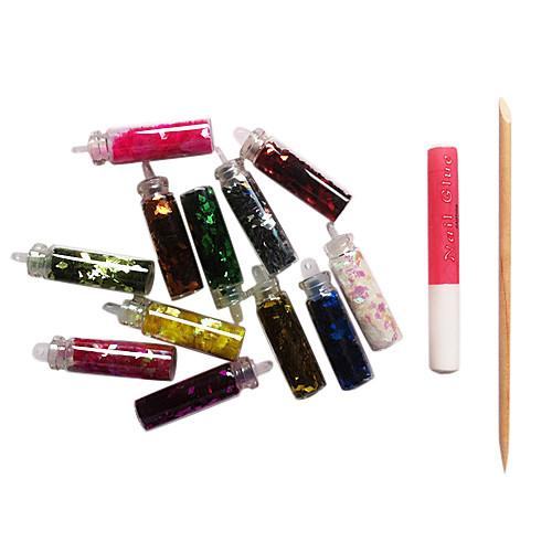 12 Цвет форме ромба Блестки Nail Art акриловые Стразы Украшения с клей-карандаш Lightinthebox 128.000
