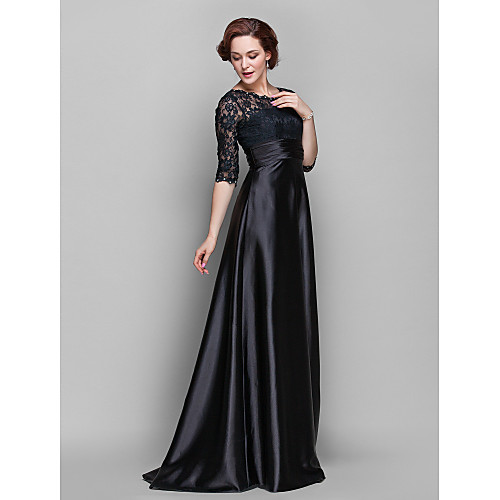 -линия жемчужина длиной до пола стрейч атласа и кружева мать невесты платье (682760) Lightinthebox 4253.000