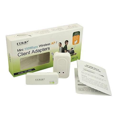 EDUP EP-2906 мини 150 Мбит 2,4 USB Wireless AP / клиент сети маршрутизатор адаптеры Lightinthebox 730.000