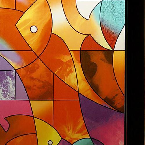 Красочные абстрактного Рыба Искусство оконная пленка Lightinthebox 1718.000