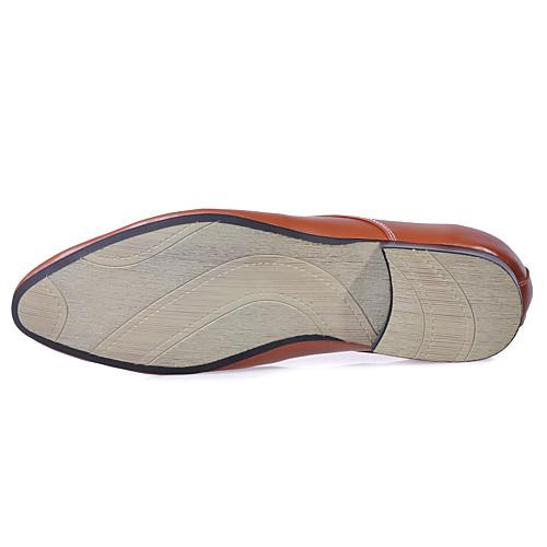 кожа мужчин низкий каблук комфорт оксфорды обувь лифт (больше цветов) Lightinthebox 3007.000