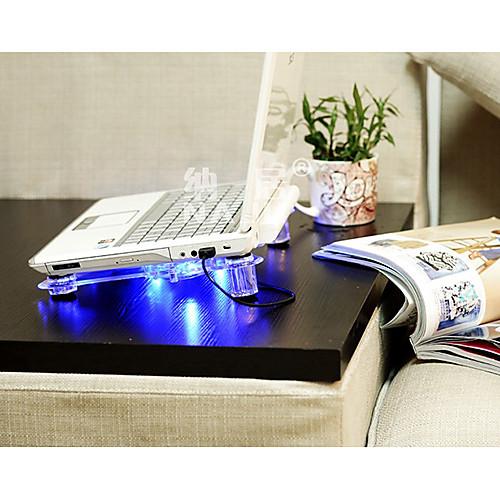 Прозрачный ноутбук Cooling Fan Cooler с голубой светодиодной подсветкой Lightinthebox 343.000