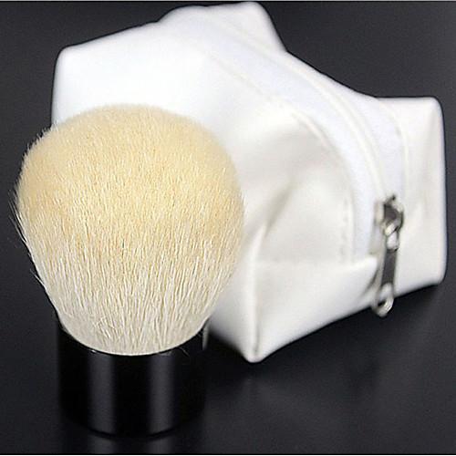 Высокое качество натурального козьего волос Белый Макияж Румяна / порошок Кабуки кисть с белым застежке Lightinthebox 364.000