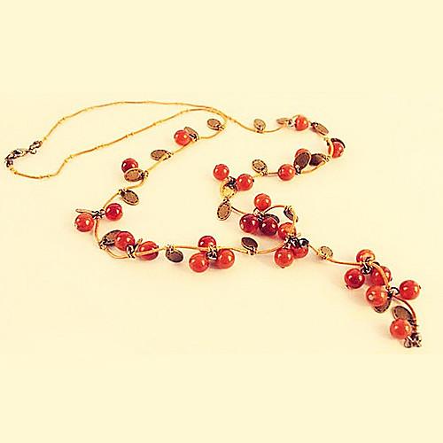 Европейские и американские ювелирные ретро сладкий Вишенки полной эстетической темперамент ожерелье N116 Lightinthebox 214.000