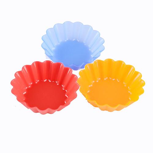 Цветочный Shaped Mold Cupcake Силикон (6 шт, Random Color) Lightinthebox 171.000
