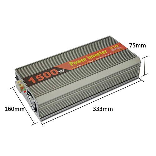 Инвертор 1500W DC 12V в переменное 220V Модифицированная синусоида Lightinthebox 6402.000