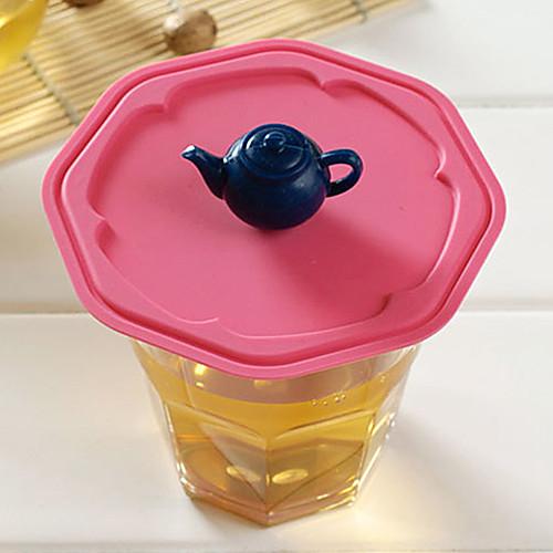 Ручка чайника Силиконовой герметичность Кубок Крышка (случайный цвет) Lightinthebox 128.000
