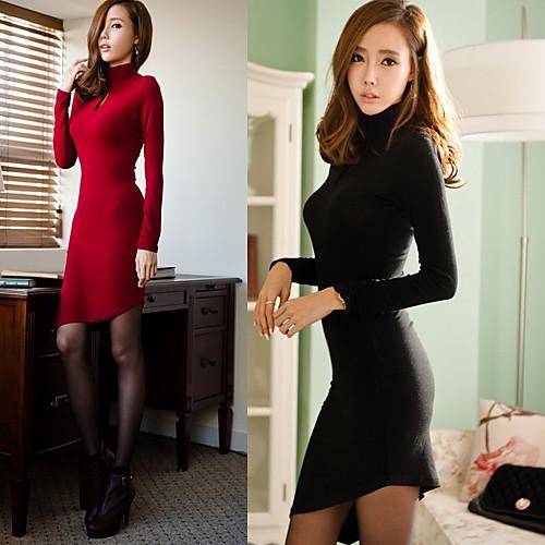 Женское, стильное платье с длинным рукавом от Lightinthebox.com INT