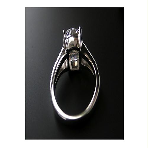 3.85 карат роскошь Сона кристалл кольцо алмазов для женщин 925 серебряный белый позолоченные свадьбу Lightinthebox 4747.000